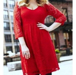 Simply Be Red Lace Dress